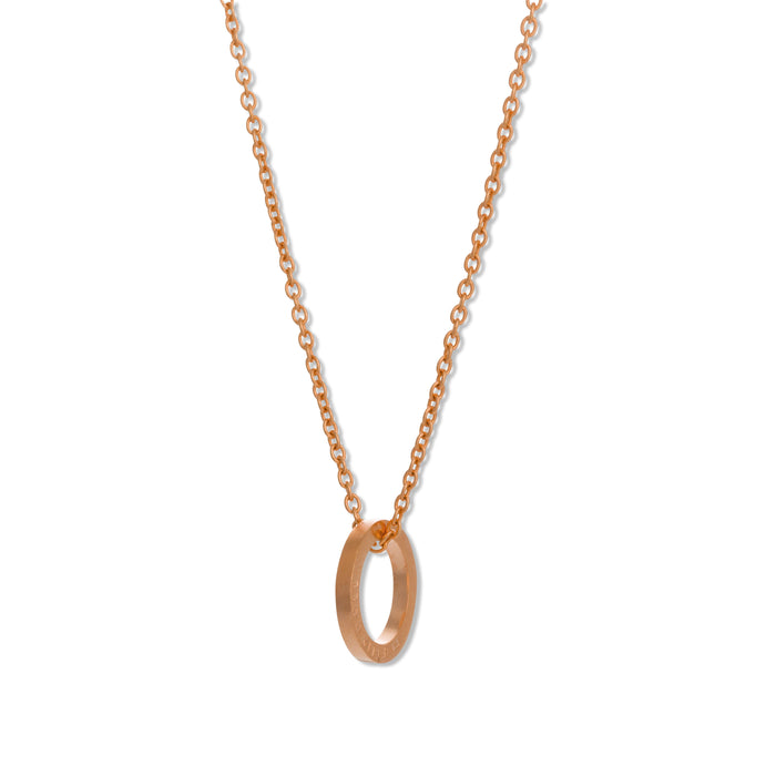 Pendant - D 131 - Rose gold-plated brass