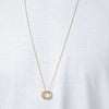 131 D - Slim Circle Pendant - 24ct gold-plated brass