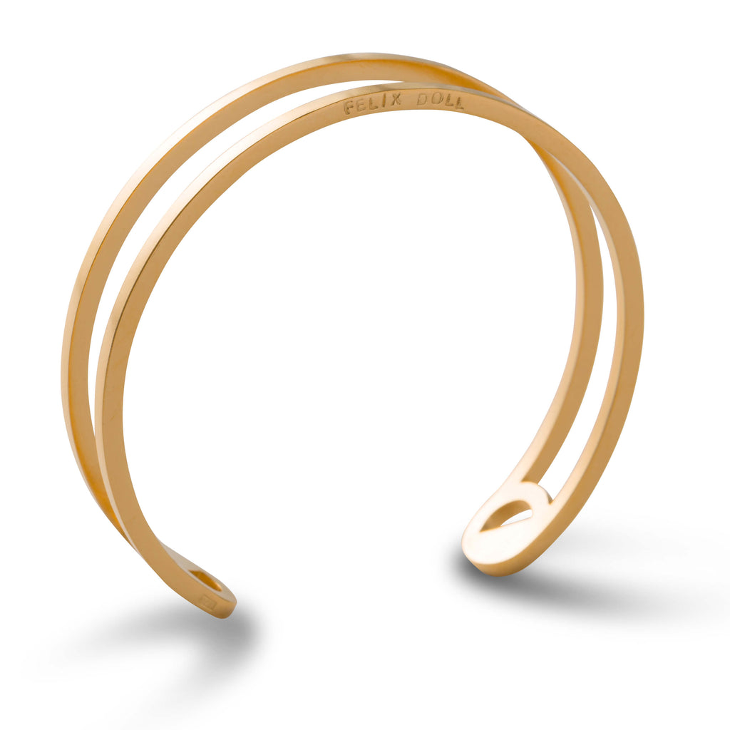 436 D - Thin Circle Bracelet - 24ct gold-plated brass