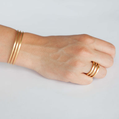 Bracelet - D 444 - gold-plated brass