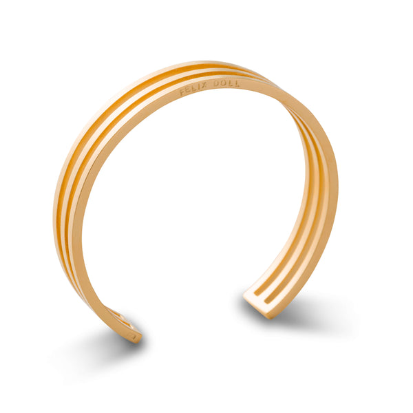 444 D - Trio Circle Bracelet - 24ct gold-plated brass