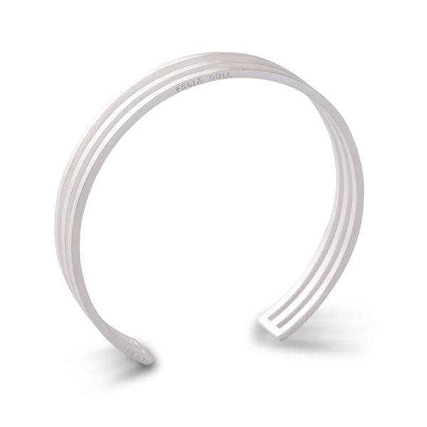 444 D - Trio Circle Bracelet - silver-plated brass