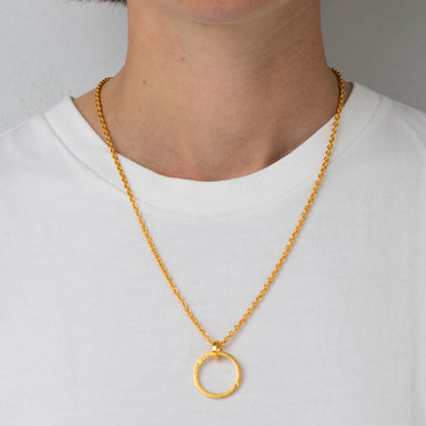 Pendant - E 147 - gold-plated brass