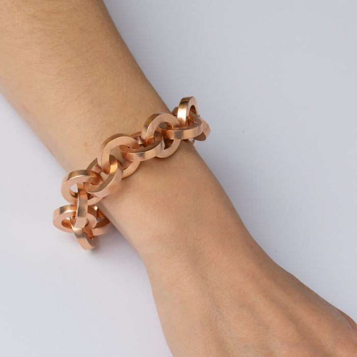 Bracelet - E 460 - Rose gold-plated brass