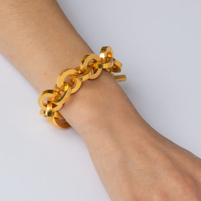 Bracelet - E 460 - gold-plated brass