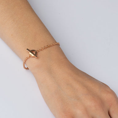 Bracelet - E 467 - Rose gold-plated Sterling silver