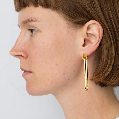 E 640 - Long Round Earrings