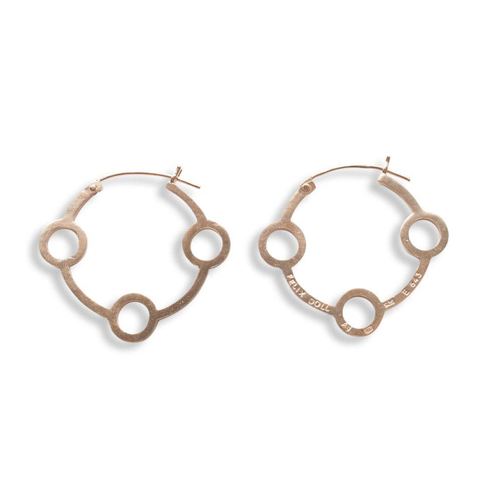 E 643 - Triple Circle Hoop Earring