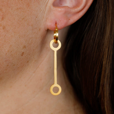 Hoop Pendant - E 145 - gold-plated brass