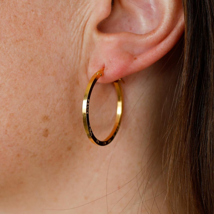 E 649 - Large Hoop Earrings