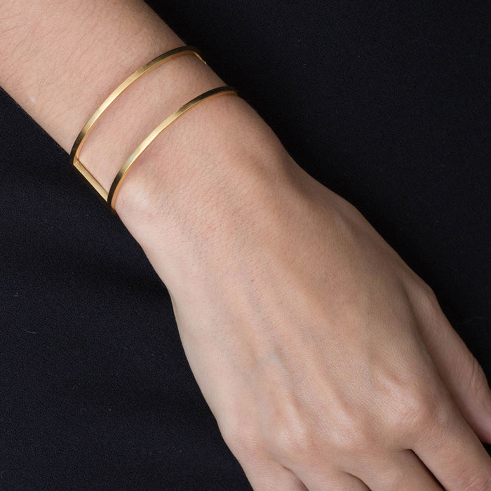 415 B - Round Bracelet with Plate - silver gold-plated - Felix Doll Jewelry
