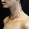 113 C - Bold Vertical Choker - 18ct rose gold-plated brass
