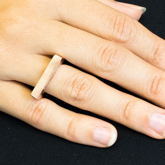 Ring - C 241 - Rose gold-plated Sterling silver