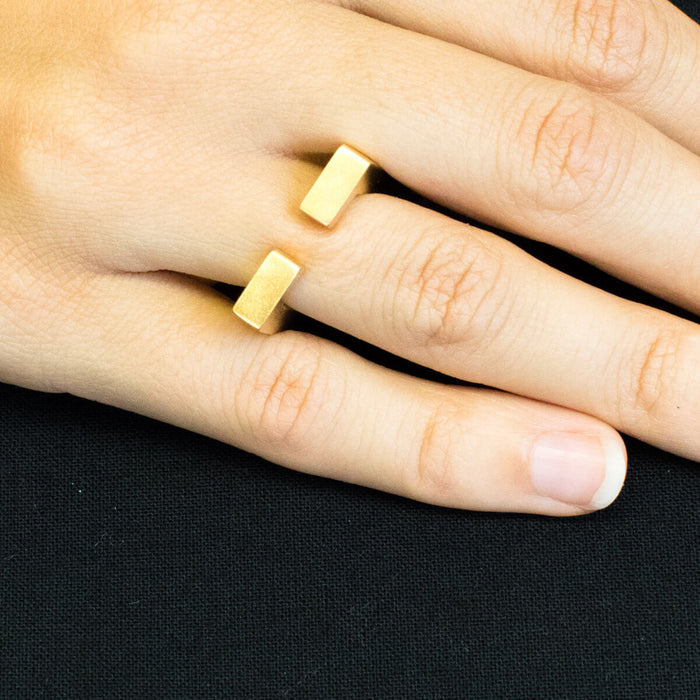 Ring - C 241 - gold-plated Sterling silver