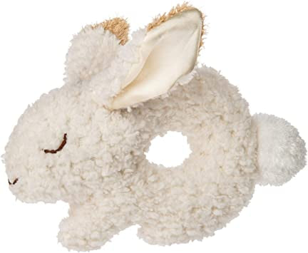 Oatmeal Bunny Ring Rattle – 7″ Mary Meyer