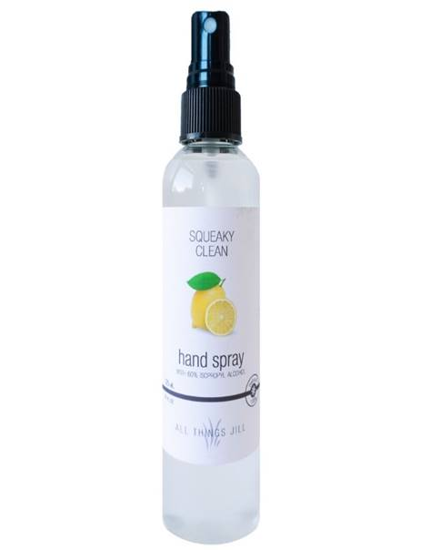**NEW**All Things Jill Squeaky Clean Hand Spray with 60% isopropyl alcohol