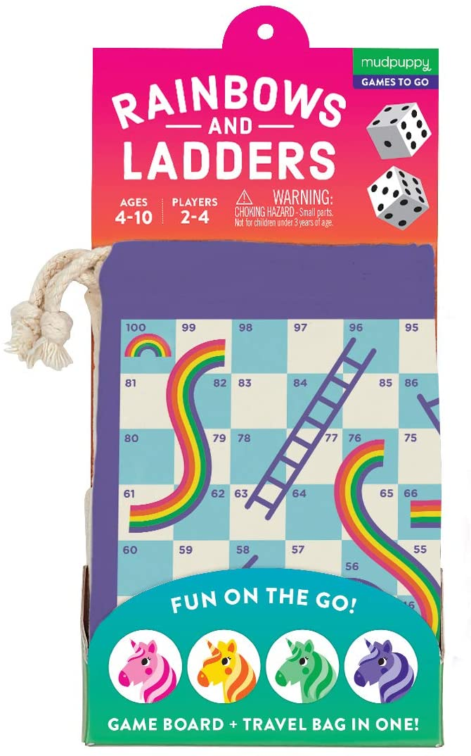 Mudpuppy Rainbows & Ladders Travel Game