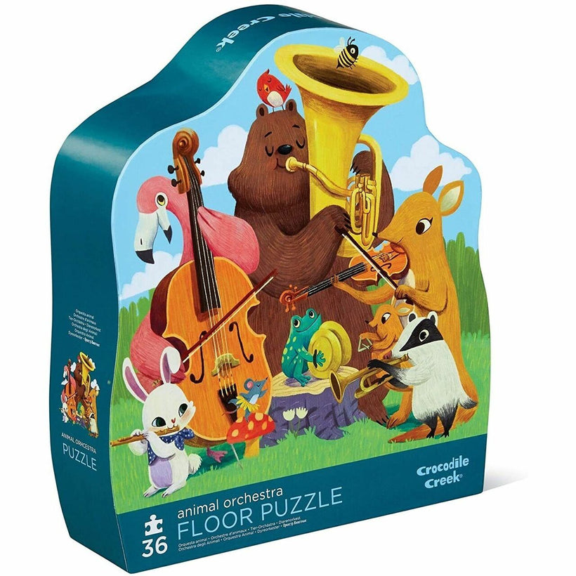 Crocodile Creek Animal Orchestra Floor Puzzle 36 Pieces