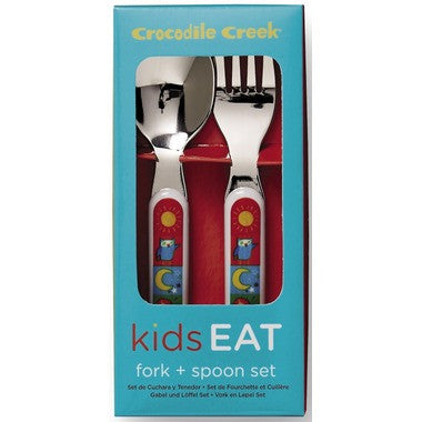 Crocodile Creek Fork and Spoon Set