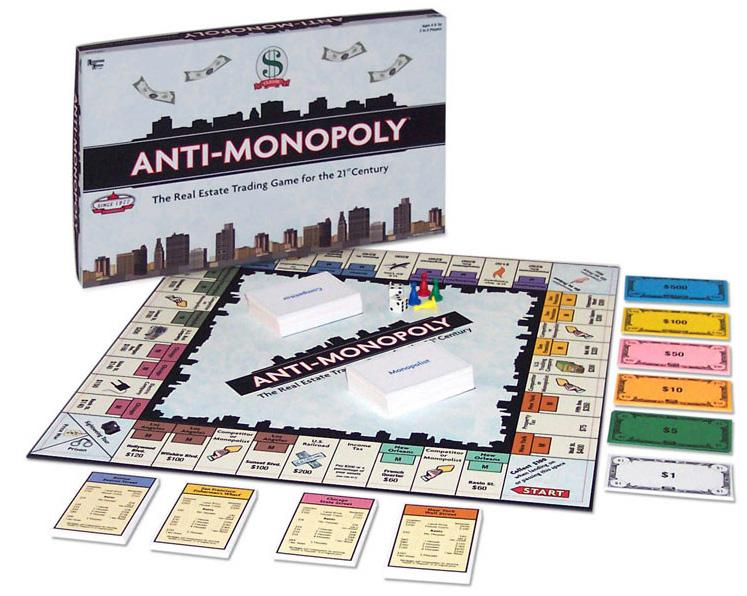 Anti-Monopoly – a board game with a twist