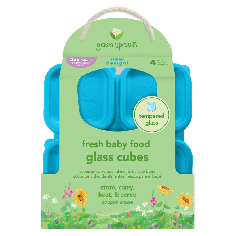 Green Sprouts Fresh Baby Food Glass Cubs 2oz