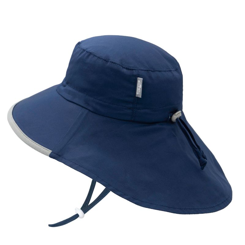 Jan and Jul Navy Cotton Grow with Me Adventure Hat S, M and L