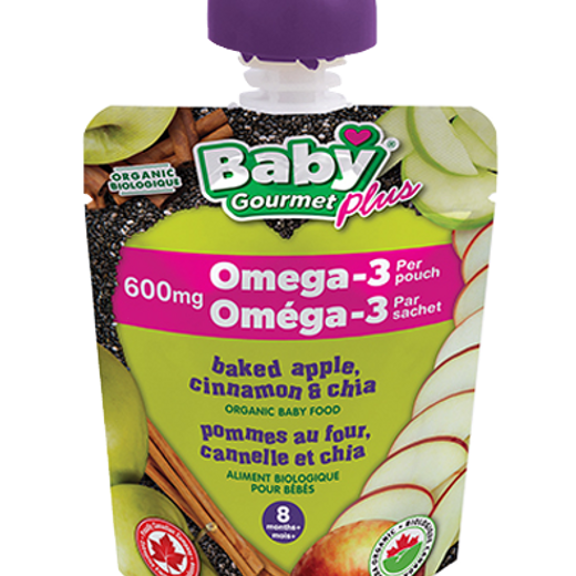 Baby Gourmet Omega 3 Baked Apple Pouch