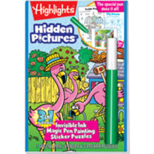 Highlights Invisible Magic One Painting and Stickers (Hidden Pictures)
