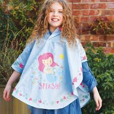 Floss and Rock Poncho- Colour Changing Mermaid