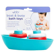 Ubbi Boat and Buoys Bath Toy