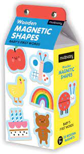 Mudpuppy Wooden Magnetic Shapes / Baby's First Words