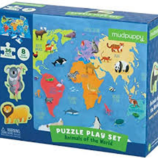 Muddy puppy puzzle play set- Animals of the World