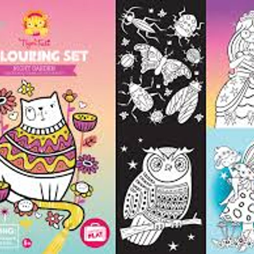 Tiger Tribe Night Garden Colouring Set