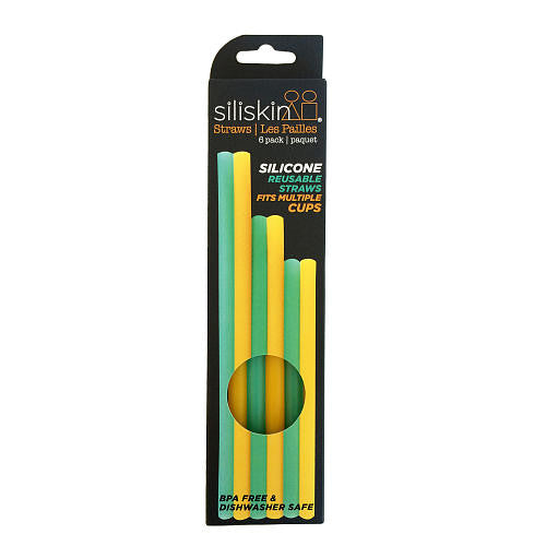 Silikids Straws 6 pack Silicone