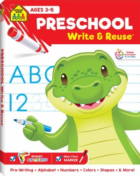 Pre-School Write and Re-Use Educational Book