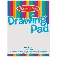 Melissa and Doug Drawing Pad 9x12 50 pages
