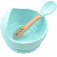 Glitter and Spice Silicone Suction Bowl and Spoon Set