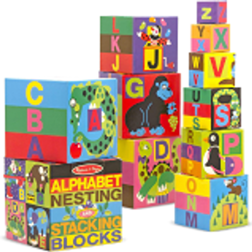Melissa and Doug Alphabet and Nesting Stacking Blocks