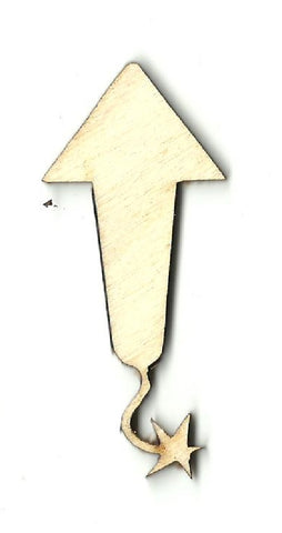 Firework Rocket - Laser Cut Wood Shape 4TH3