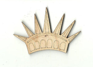 Statue Of Liberty Crown - Laser Cut Wood Shape 4Th6 Craft Supply