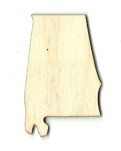 Alabama Us State - Laser Cut Wood Shape Craft Supply