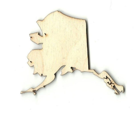 Alaska - Laser Cut Wood Shape Craft Supply