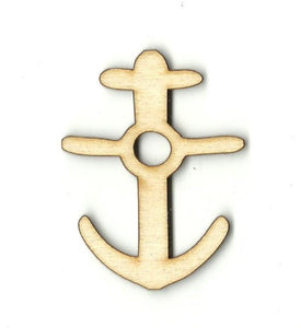 Anchor - Laser Cut Wood Shape Anc13 Craft Supply