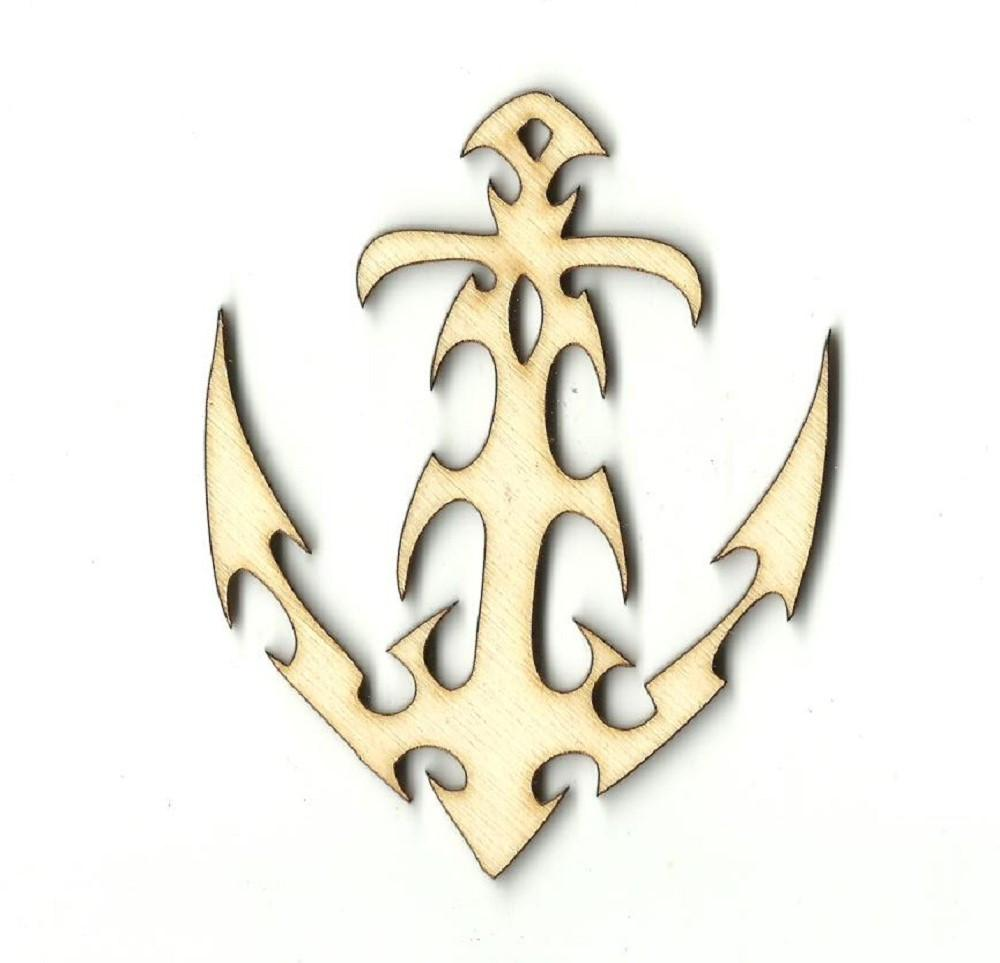 Anchor - Laser Cut Wood Shape Anc2 Craft Supply