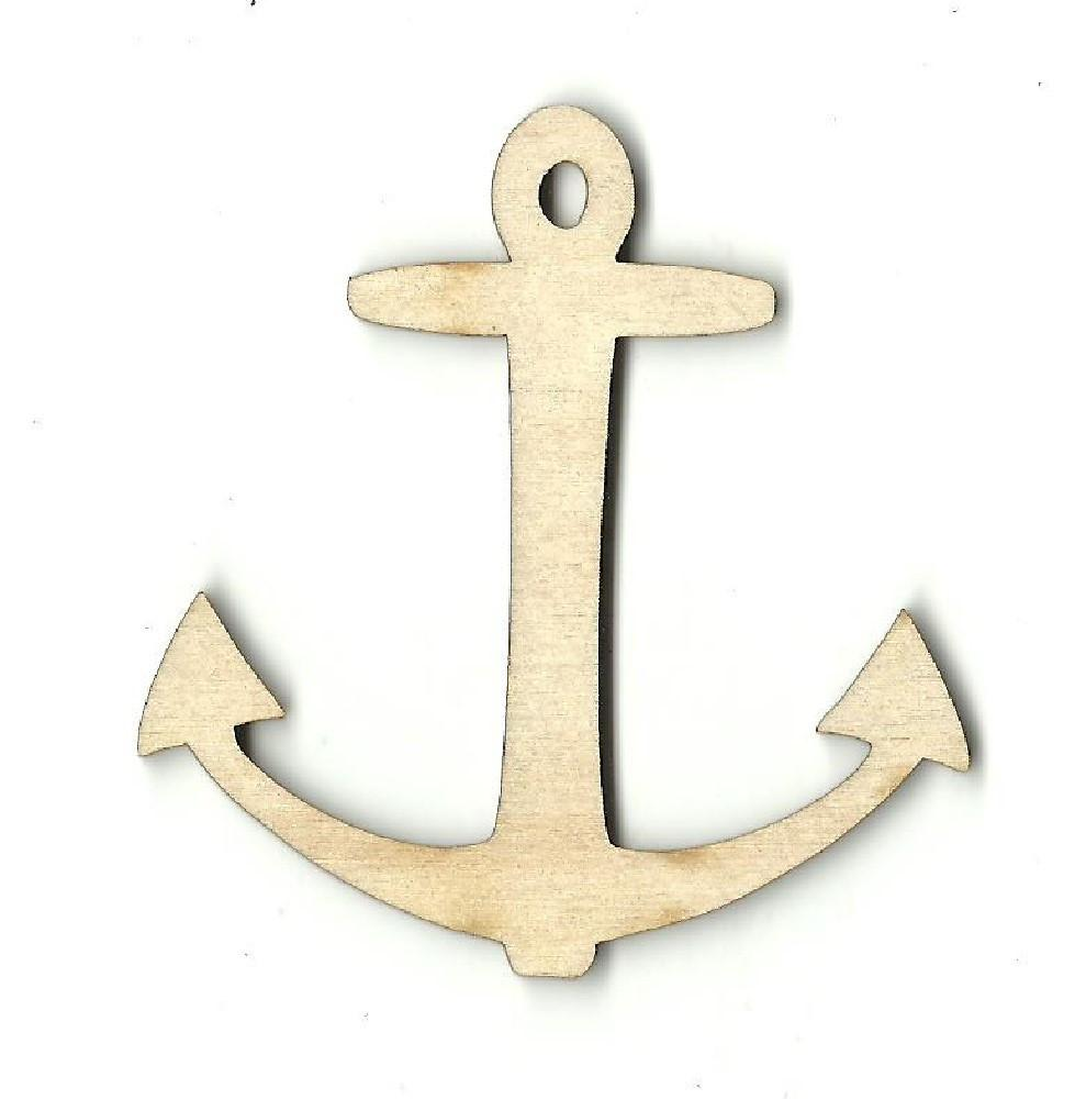 Anchor - Laser Cut Wood Shape Anc12 Craft Supply