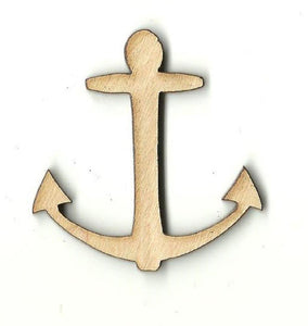 Anchor - Laser Cut Wood Shape Anc3 Craft Supply