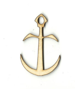 Anchor - Laser Cut Wood Shape Anc11 Craft Supply