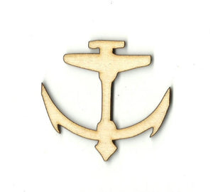 Anchor - Laser Cut Wood Shape Anc10 Craft Supply