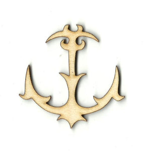 Anchor - Laser Cut Wood Shape Anc8 Craft Supply