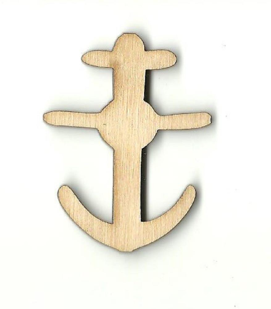 Anchor - Laser Cut Wood Shape Anc4 Craft Supply